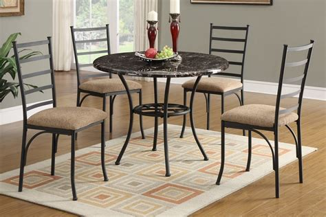 Marble Table Top Dining Set Hughes 5pc Marble Top Dining Table Set
