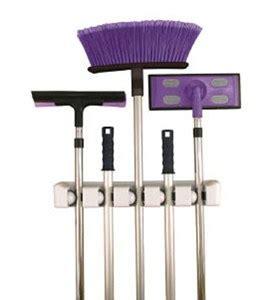 Magic Holder Magic Mop Holder Limited five slot magic mop and broom holder in broom and mop holders