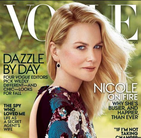 Hudsons Vogue Cover With Photoshop by Kidman Aparece Irreconhec 237 Vel Em Capa De Revista