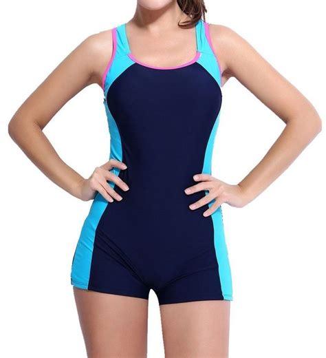 swing suits charmleaks womens one piece swimsuit boyleg swimwear