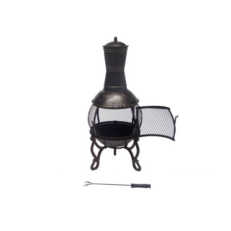 89cm cast iron pit chiminea chimney fireplace heater