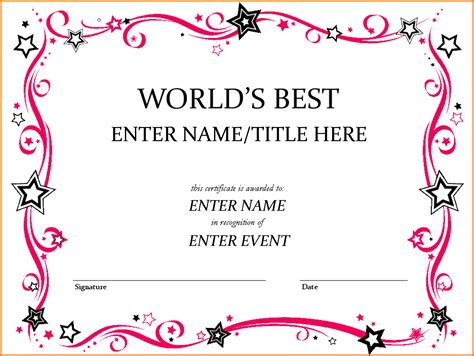 free award certificate templates for word award template word authorization letter pdf