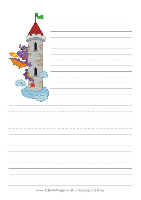 tale writing paper template tower writing paper