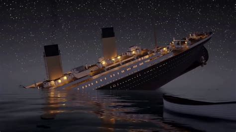 titanic movie boat sinking scene titanic honor and glory sinking scene youtube