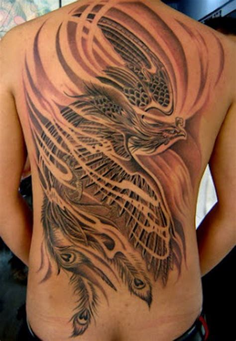 phoenix tattoo full back