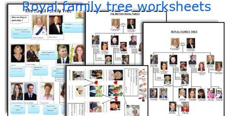 printable royal family tree english teaching worksheets royal family tree
