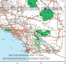 road map of southern california including santa barbara