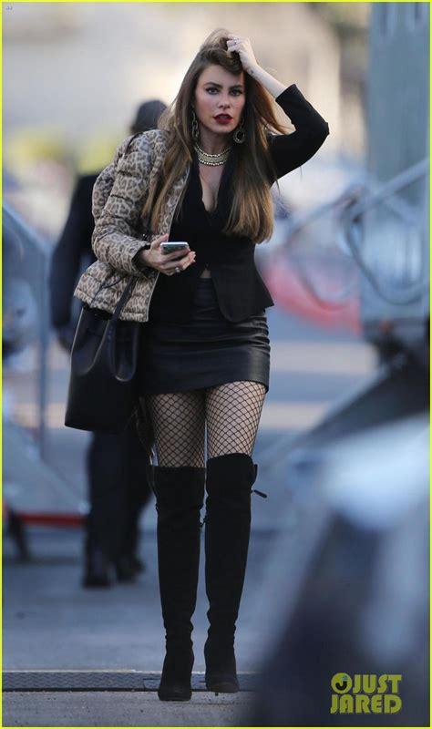 New Old House Plans sofia vergara wears fishnet stockings amp leather mini skirt