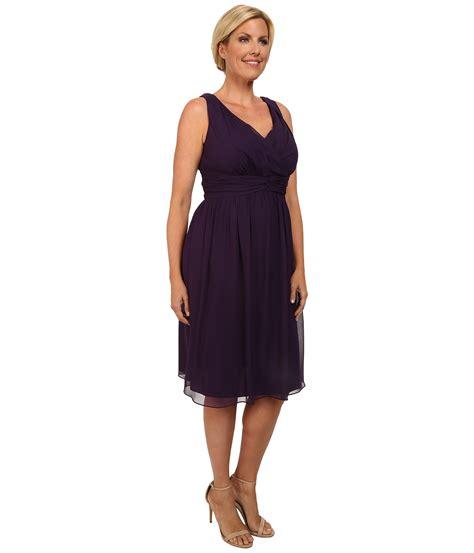 Dress Frendy donna plus size bra friendly chiffon dress in purple amethyst lyst