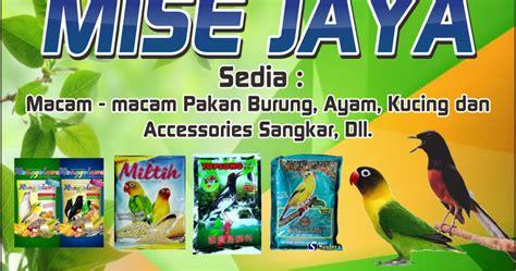 Daftar Harga Pakan Burung Eceran contoh banner spanduk toko jual pakan burung dan ayam cdr