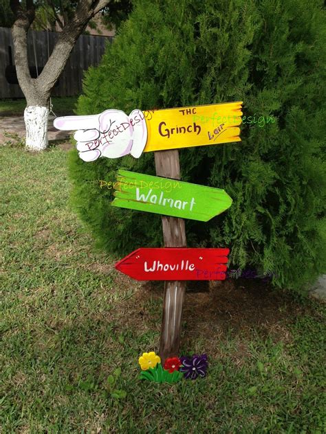 whoville outdoor decorations grinch sign whoville yard decoration decor