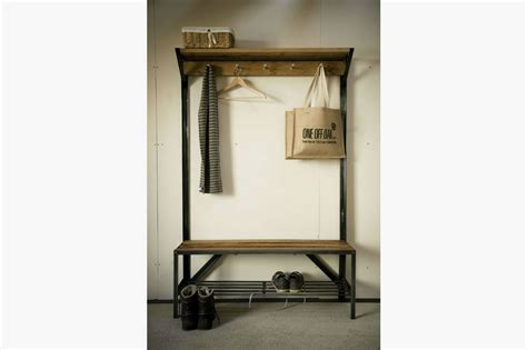 coat rack bench bespoke handmade furniture from english oak