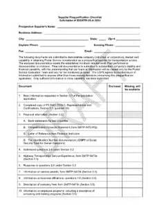 vendor qualification form template supplier checklist form adalah fill printable