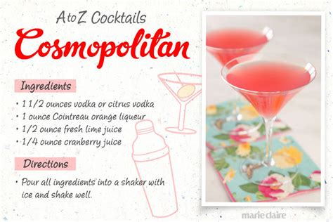 cocktail drinks recipe easy cosmopolitan drink recipe