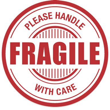 shipping label fragile handle with care fragile handle with care