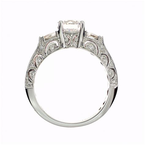 engagement ring setting in 18kt white gold