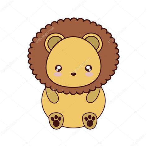imagenes de leones kawaii icono de animales lindo del kawaii de le 243 n archivo