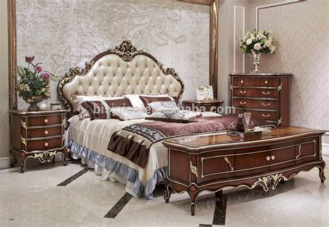 italian style solid wood bedroom furniture set antique