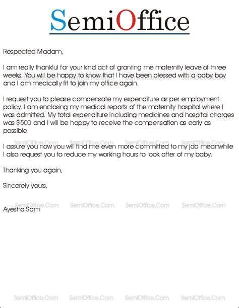 request letter to company hr for late joining in office rejoining letter after maternity leave sle