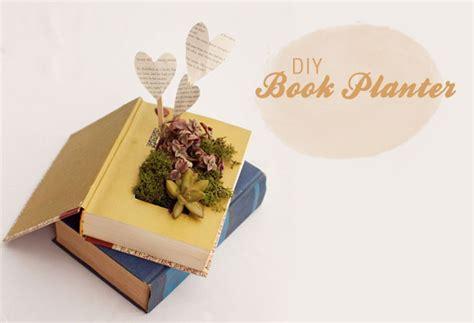 Diy Book Planter ruche project diy book planters