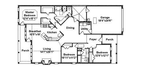 ranch house plans narrow lot cottage house plans