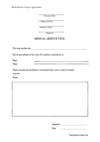doctors note templates vectorgraphit