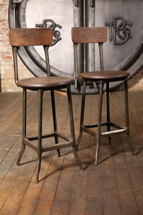 vintage industrial chairs and stools pair of original vintage industrial stools get back inc
