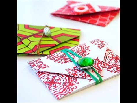 How To Make An Envelope Out Of Wrapping Paper - origami gift envelope gift wrapping