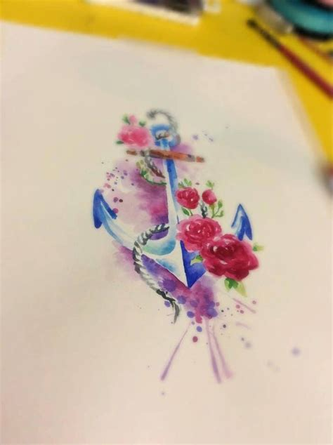 watercolor tattoo facebook 25 best ideas about watercolor anchor on