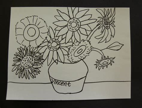 van gogh basic art kids can draw vincent van gogh sunflowers with first grade art students youtube