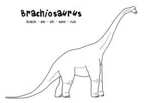 how to spell brachiosaurus coloring page color luna