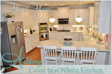 adding color to a white kitchen all things heart and home
