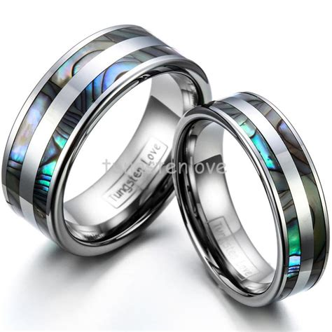 high tungsten engagement rings set with