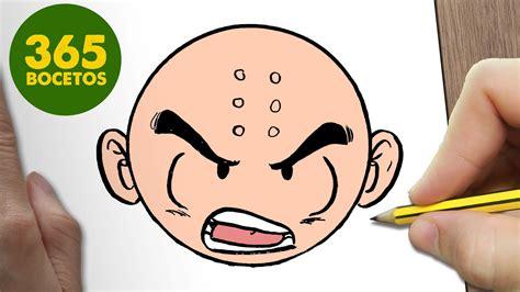 imagenes de krilin para dibujar faciles como dibujar krilin emoticonos whatsapp kawaii paso a paso
