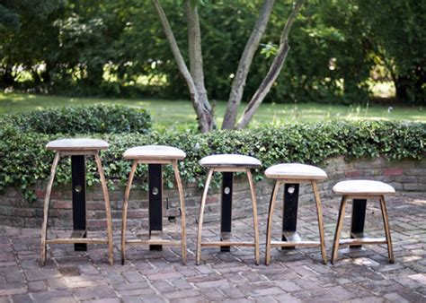 Bourbon Barrel Bar Stools by Bourbon Barrel Barstools Bourbon Barrel Furniture