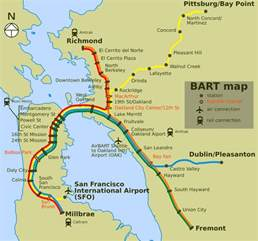 San Francisco Bart Map by Calvin Byrom Blogs Old Bart Map