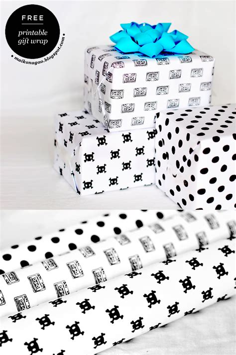 free printable wrapping paper designs maiko nagao freebie printable gift wrap designed by
