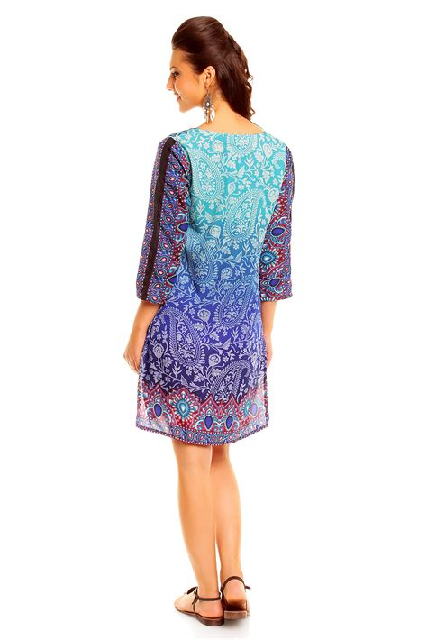 Loliy Blues Blouse blue lolly sleeved tunic top