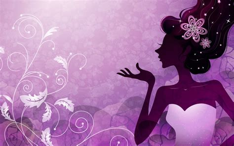 girl themes wallpaper vector girls illustrated wallpapers