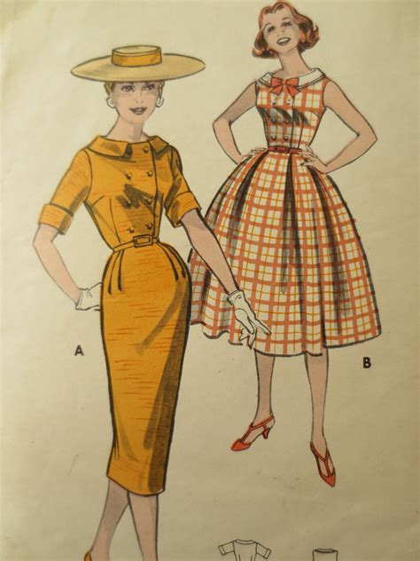 pattern for vintage dress vintage butterick 8459 1950s dress pattern dress pattern