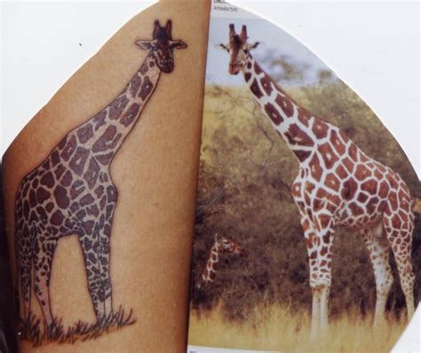 giraffe pattern tattoo giraffe tattoo