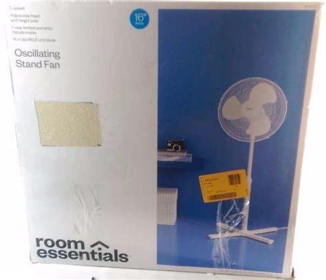 room essentials fan room essentials white 16 quot 3 speed oscillating stand fan summer time fan auction k bid