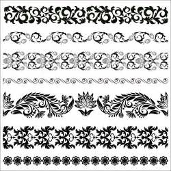 border decorative element patterns vector floral border pattern flowers vector vintage ornamental