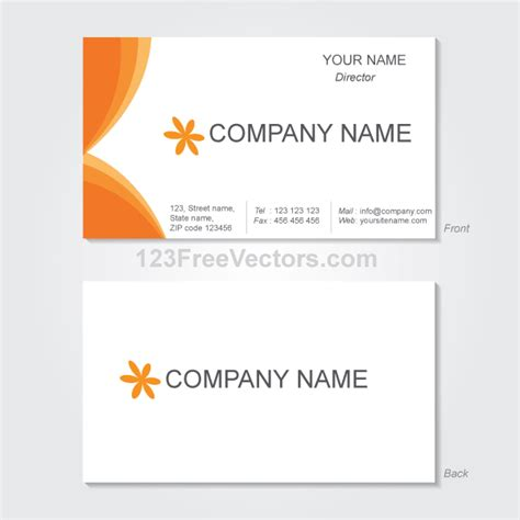 vector graphics business card template download free