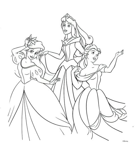 Disney Princess Printable Coloring Pages Free Printable Disney Princess Coloring Pages For Kids by Disney Princess Printable Coloring Pages