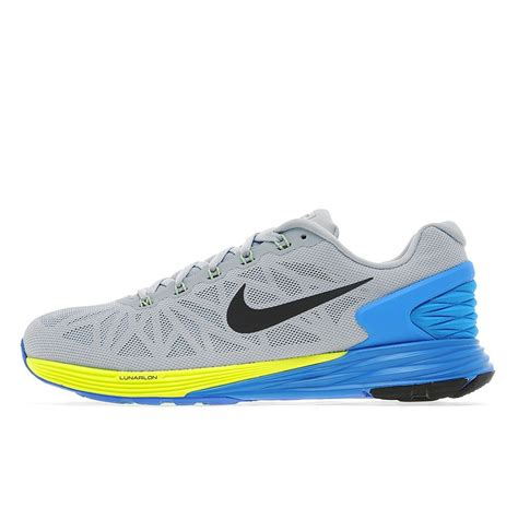 nike sneakers shoes nike lunarglide 6 mens light gray yellow light
