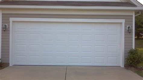 2 door garage two single garage doors made into one garage door after