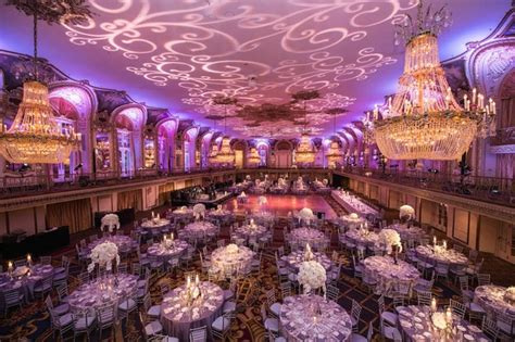 Luxury Home Design Trends Colorful Church Ceremony Purple Ballroom Reception In