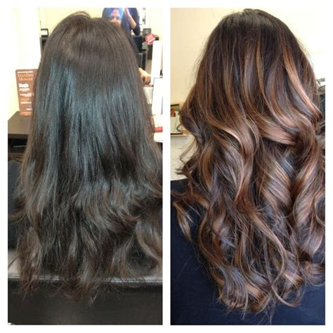 balayage ombre highlights on dark hair balayage ombre highlights newhairstylesformen2014 com
