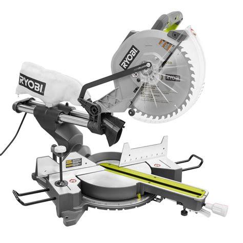 ryobi 15 12 in sliding miter saw with laser tss120l